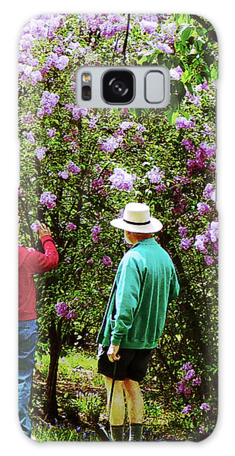 Spring Galaxy S8 Case featuring the photograph In The Lilac Garden by Susan Savad
