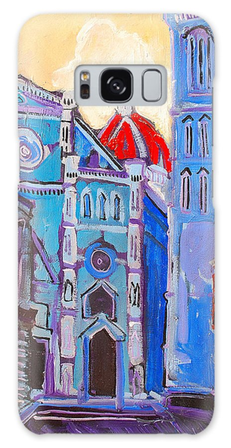 Florence Galaxy Case featuring the painting In The Middle Of by Kurt Hausmann