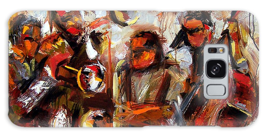 Jazz Art Galaxy S8 Case featuring the painting In The Moment by Debra Hurd