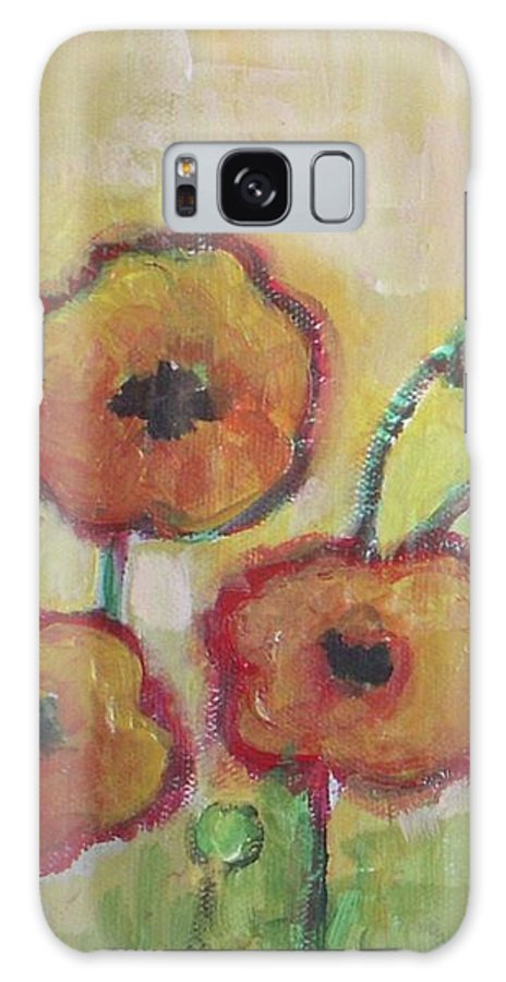 Poppies Galaxy S8 Case featuring the painting Poppies At Dusk by Vesna Antic