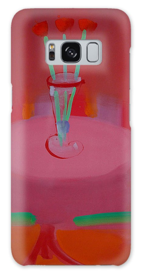 Vase Galaxy Case featuring the painting In The Red Room by Charles Stuart