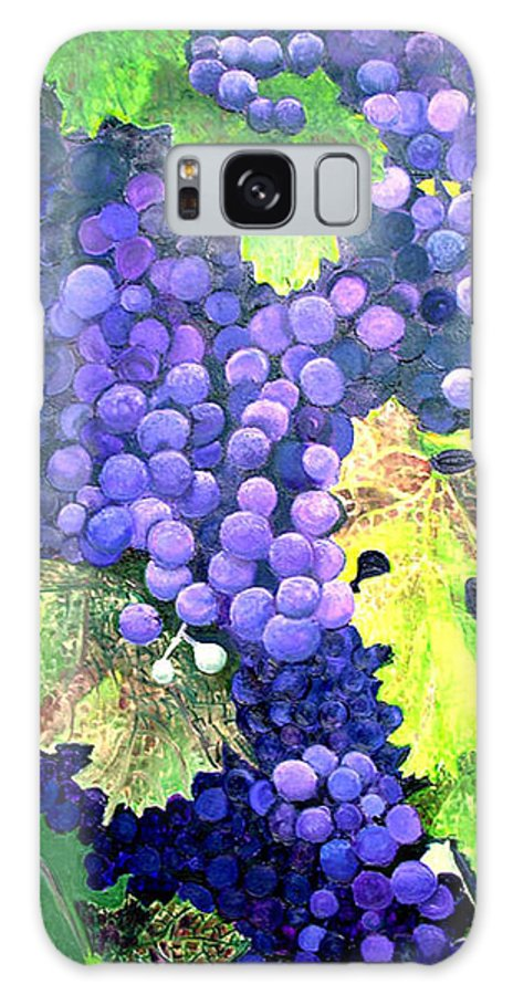 Grapes Galaxy Case featuring the painting In The Vineyard by Diana Davenport