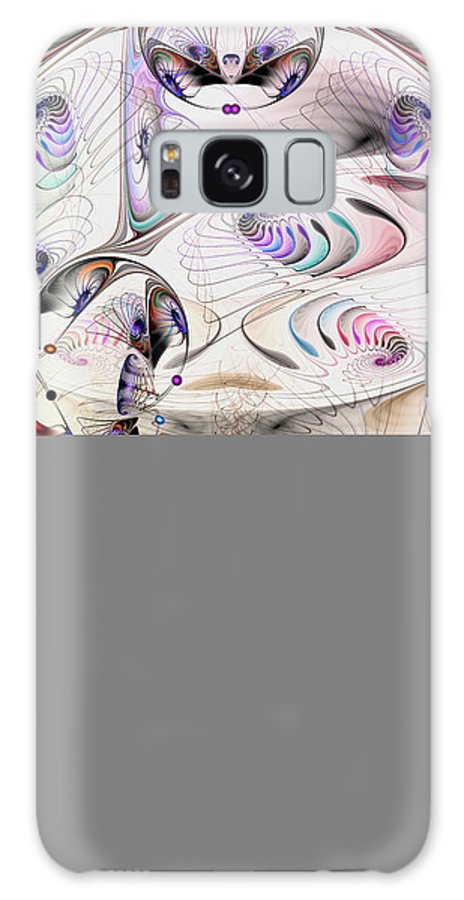 Abstract Galaxy S8 Case featuring the digital art Inconceivable by Casey Kotas