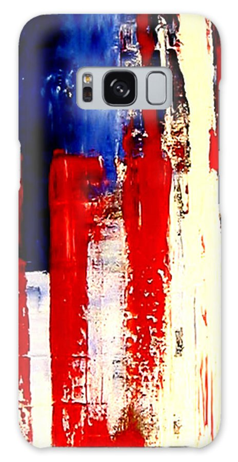 Flag Galaxy S8 Case featuring the painting Independence Day by Charles Jos Biviano
