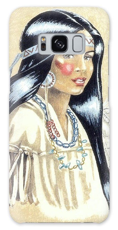 American Indians Galaxy Case featuring the painting Indian Girl by George I Perez