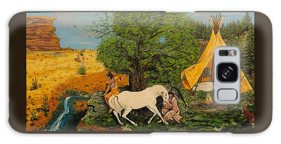 Horses Galaxy Case featuring the painting Indian Romance by V Boge
