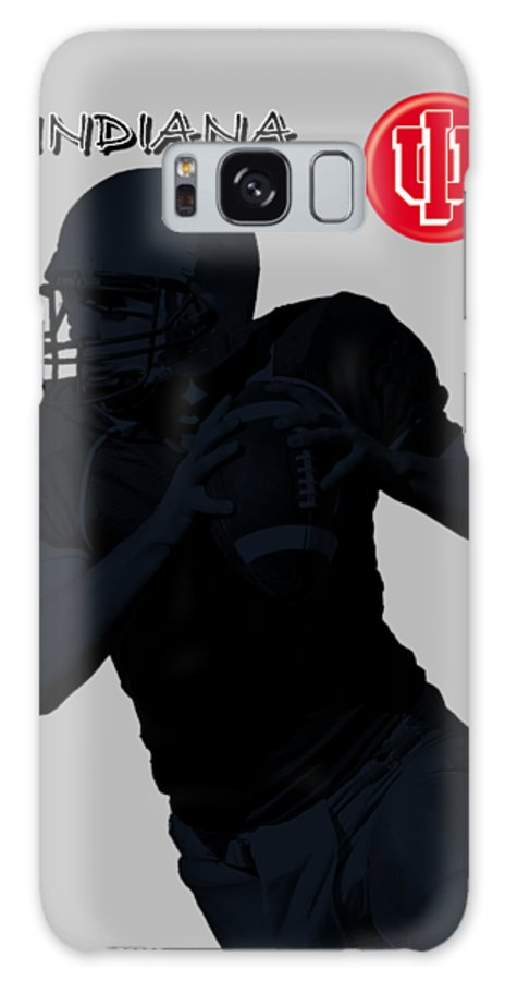 Football Galaxy S8 Case featuring the digital art Indiana Football by David Dehner