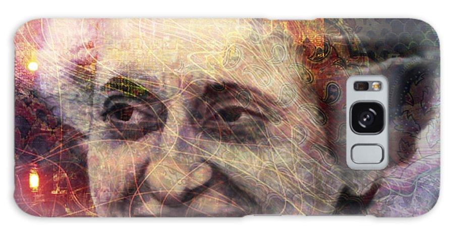 indira Gandhi Galaxy S8 Case featuring the digital art Indira by Barbara Berney