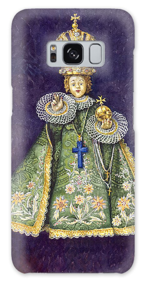 Watercolour Galaxy S8 Case featuring the painting Infant Jesus Of Prague by Yuriy Shevchuk