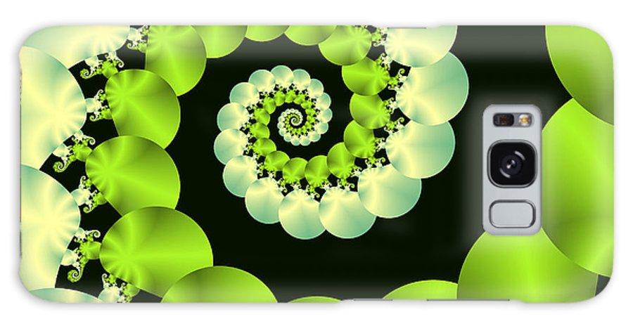 Digital Galaxy S8 Case featuring the digital art Infinite Chartreuse by Sandra Bauser Digital Art