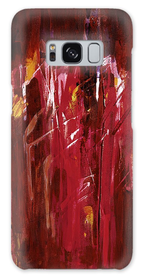 Abstract Galaxy Case featuring the painting Initiation by Tara Moorman