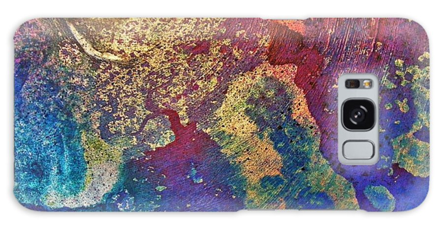 Metallic Galaxy S8 Case featuring the painting Ink Puddles by Darla J Bower Oder