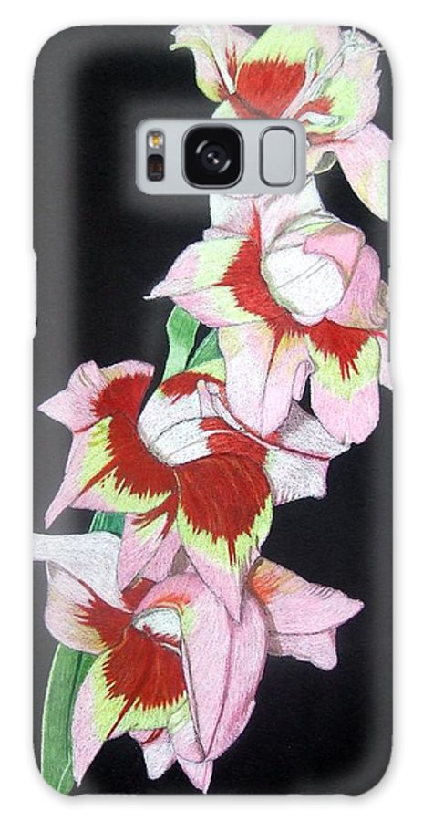 Gladiola Galaxy S8 Case featuring the painting Inner Beauty by Anita Putman