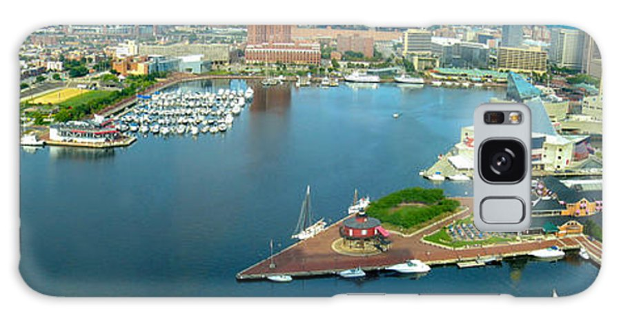 Baltimore Galaxy S8 Case featuring the photograph Inner Harbor Baltimore Panorama by Thomas Marchessault