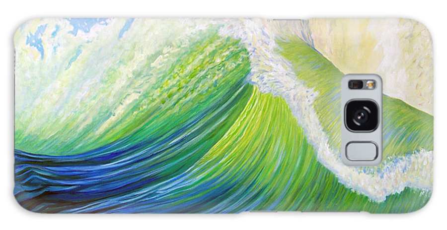 Ocean Galaxy S8 Case featuring the painting Inner Ocean - Exaltation by Brian Commerford