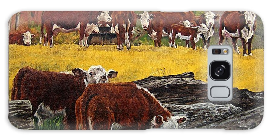 Landscape Galaxy S8 Case featuring the painting Inquisitive by Peter Muzyka
