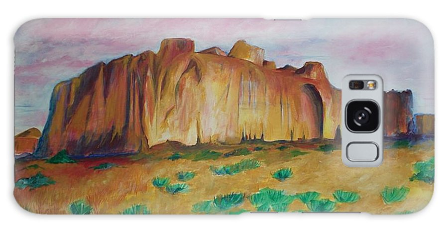 Western Landscapes Galaxy Case featuring the painting Inscription Rock by Eric Schiabor