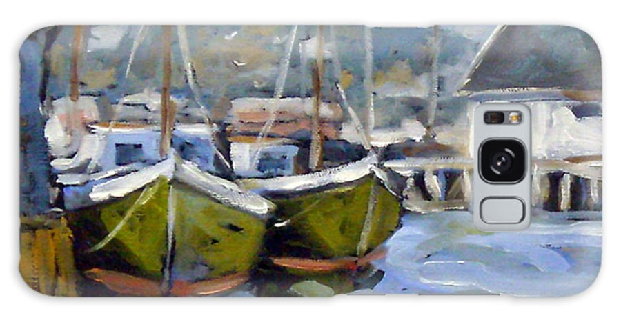 Fishing Boats; Seascape Galaxy S8 Case featuring the painting Inspired By E Gruppe by Richard T Pranke
