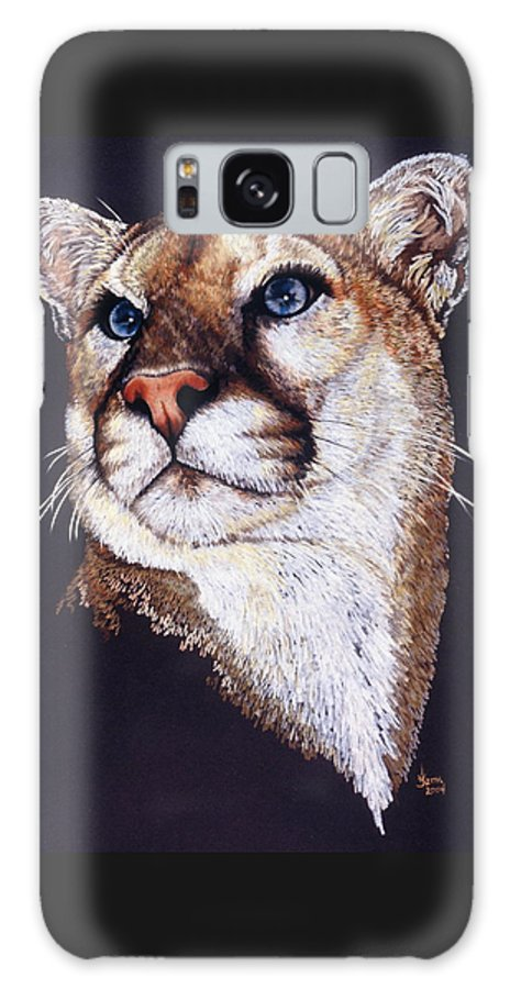 Cougar Galaxy S8 Case featuring the drawing Intense by Barbara Keith