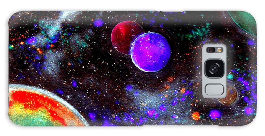 Intense Galaxy Galaxy S8 Case featuring the painting Intense Galaxy by Bill Holkham