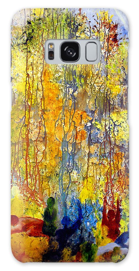 Abstract Galaxy S8 Case featuring the painting Intercessory Prayers by Ruth Palmer