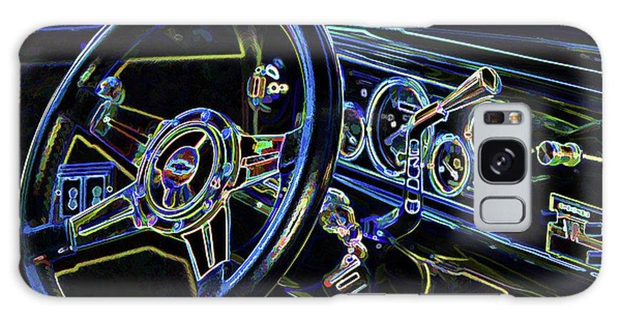 Interior Of A Classic Vintage Car Galaxy S8 Case featuring the painting Interior Of A Classic Vintage Car by Jeelan Clark