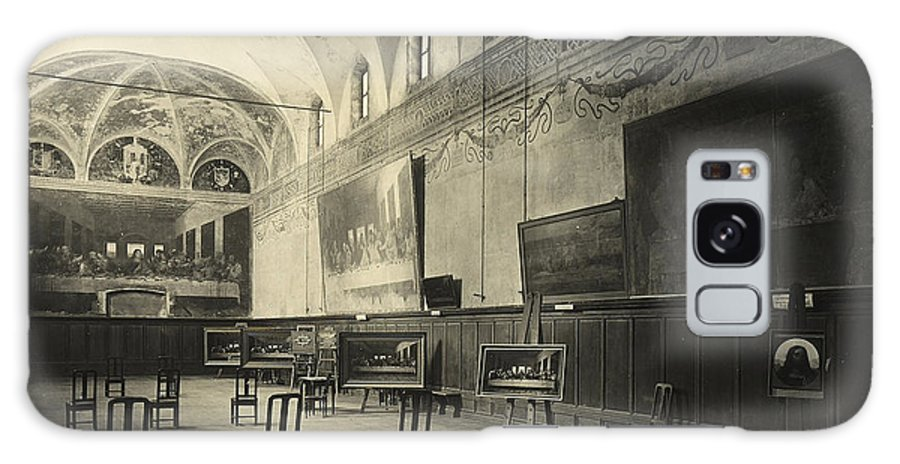 Wall; Fresco; Ecclesistical Interior; Vaulted Ceiling; Da Vinci; Refectory; Convent Galaxy S8 Case featuring the painting Interior Of The Dining Hall Of The Church Of Santa Maria Delle Grazie Milan by Alinari