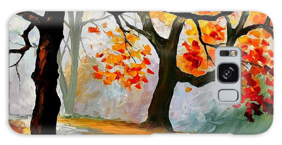 Landscape Galaxy Case featuring the painting Interplacement by Leonid Afremov
