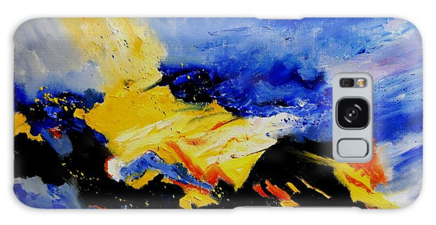 Abstract Galaxy S8 Case featuring the painting Interstellar Overdrive 2 by Pol Ledent