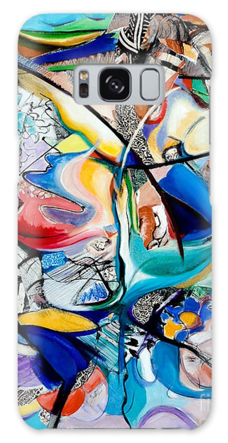Abstract Galaxy S8 Case featuring the painting Intimate Glimpses - Journey Of Life by Kerryn Madsen-Pietsch