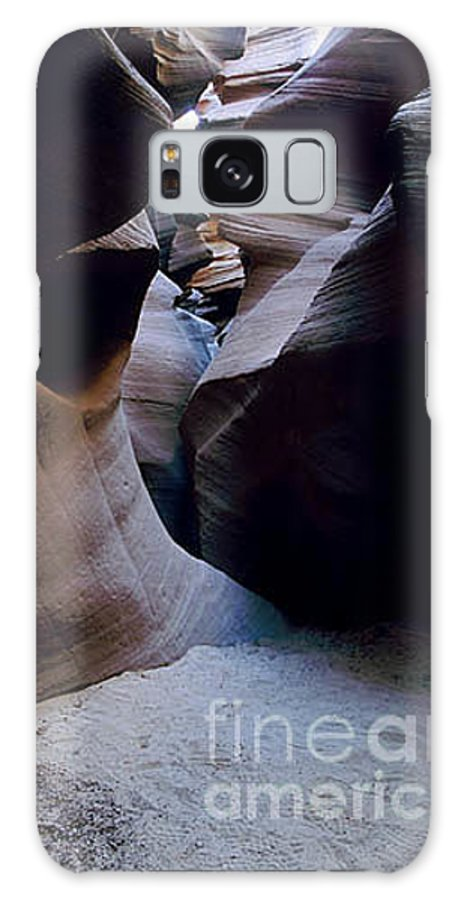 Slot Canyons Galaxy Case featuring the photograph Into The Depths by Kathy McClure