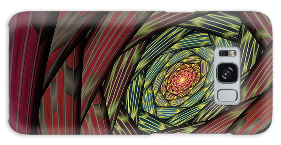 Fractal Galaxy S8 Case featuring the digital art Into The Fantasy Tunnel by Deborah Benoit