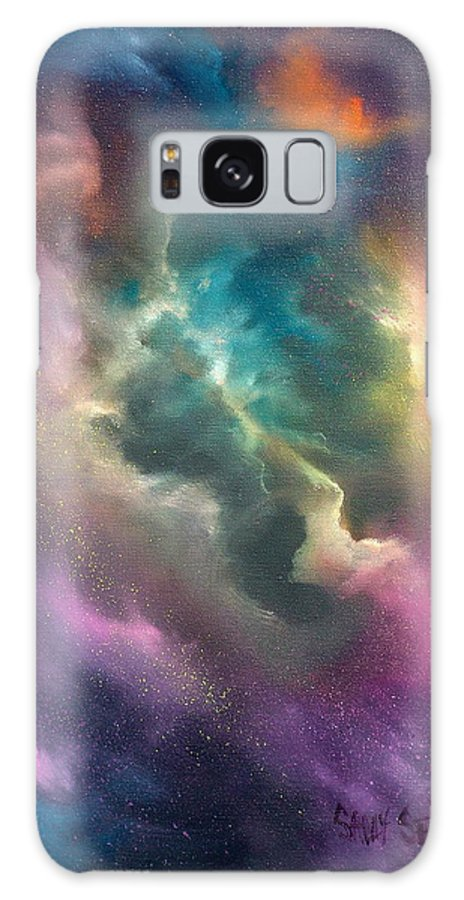 Celestial Galaxy S8 Case featuring the painting Into The Unknown by Sally Seago
