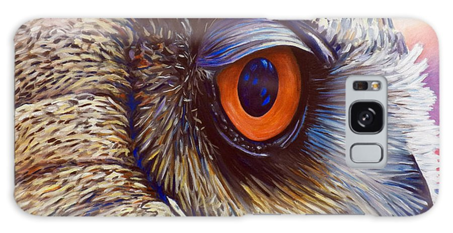 Owl Galaxy S8 Case featuring the painting Introspection by Brian Commerford