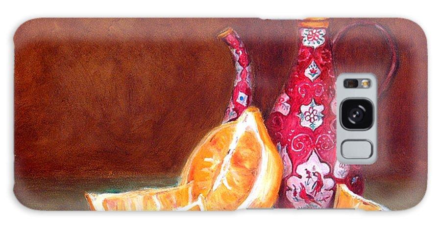 Lemons Galaxy Case featuring the painting Iranian Lemons by Enzie Shahmiri
