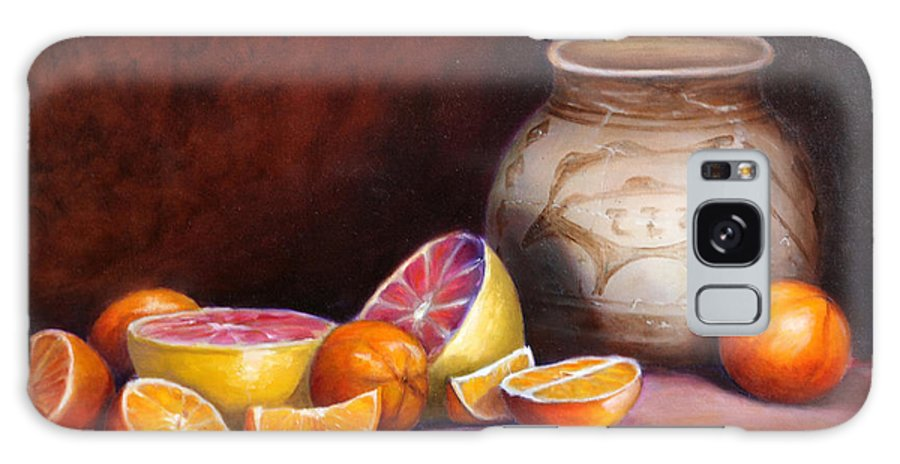 Still Life Paintings Galaxy S8 Case featuring the painting Iranian Still Life by Portraits By NC