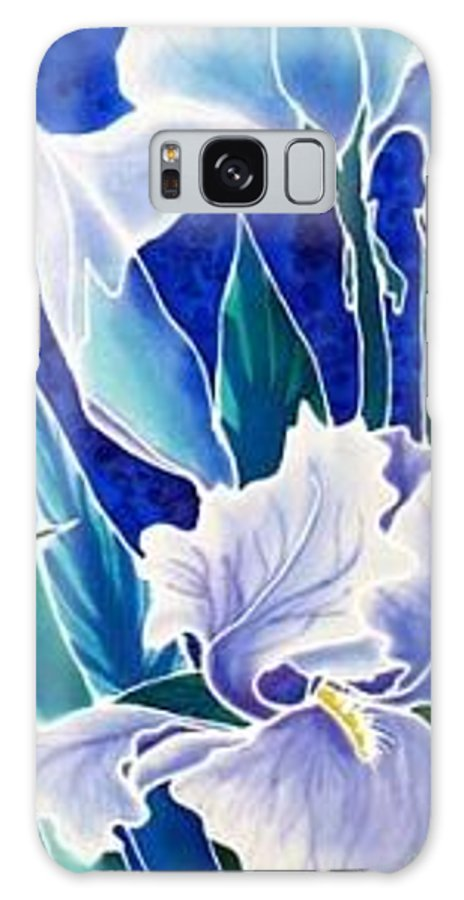 Iris Galaxy S8 Case featuring the painting Iris by Francine Dufour Jones
