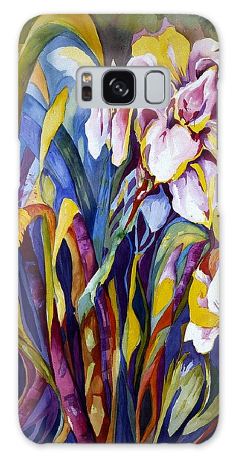 Floral Galaxy Case featuring the painting Iris by Carolyn LeGrand