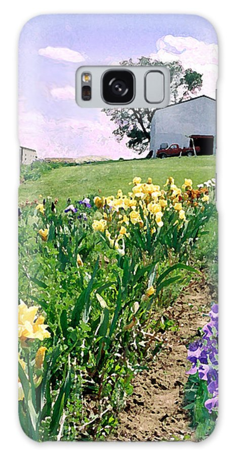 Landscape Painting Galaxy S8 Case featuring the photograph Iris Farm by Steve Karol