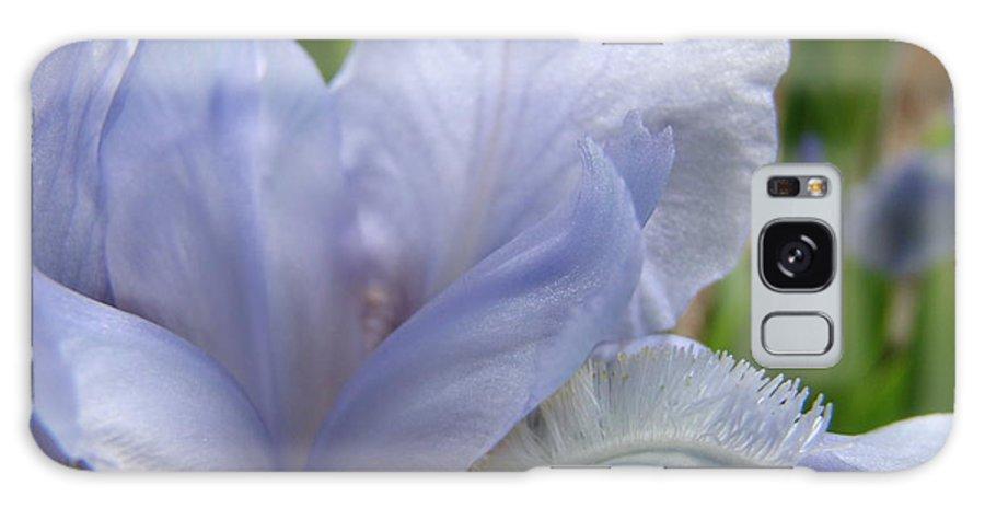 �irises Artwork� Galaxy S8 Case featuring the photograph Iris Flower Blue 2 Irises Botanical Garden Art Prints Baslee Troutman by Baslee Troutman