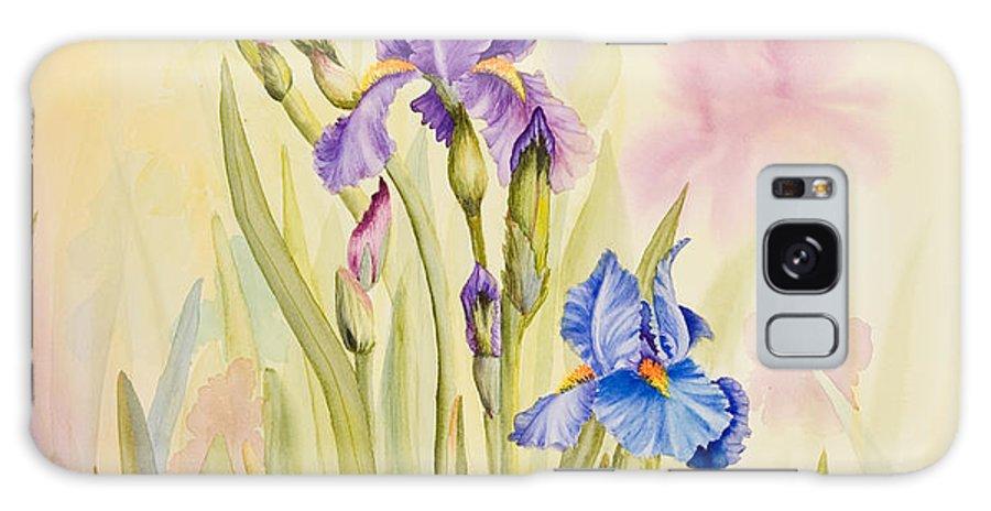Flower Galaxy S8 Case featuring the painting Iris Garden Ll by Mishel Vanderten