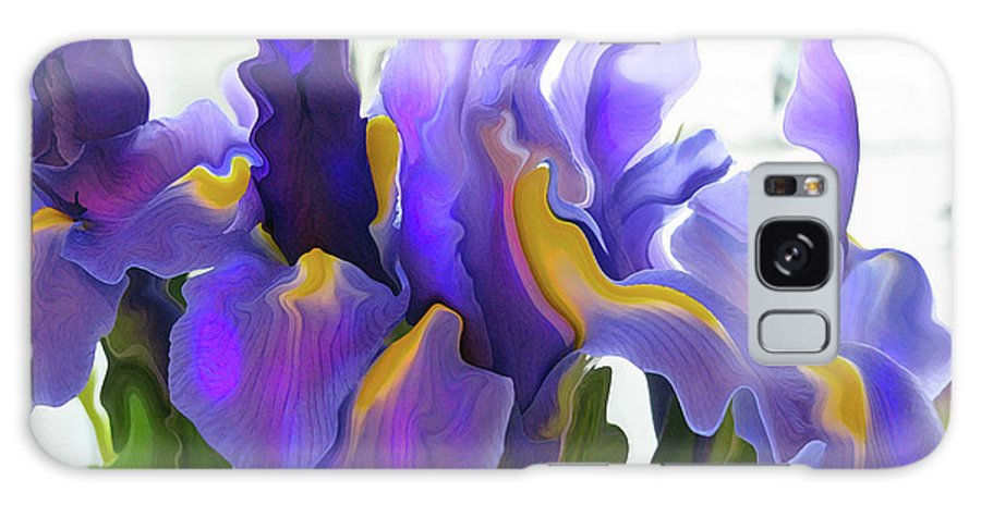 Abstract Galaxy S8 Case featuring the photograph Iris by Kathy Moll