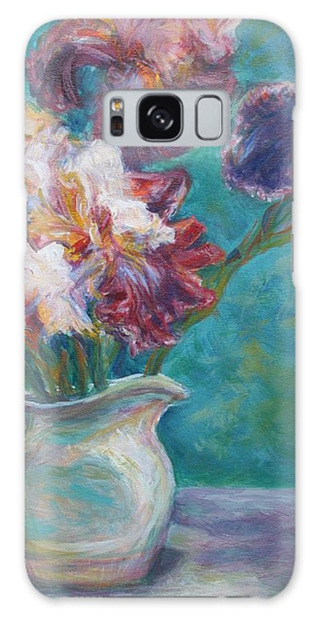 Impressionist Galaxy S8 Case featuring the painting Iris Medley - Original Impressionist Painting by Quin Sweetman