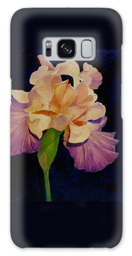 Floral Galaxy S8 Case featuring the painting Iris by Peggy Guichu