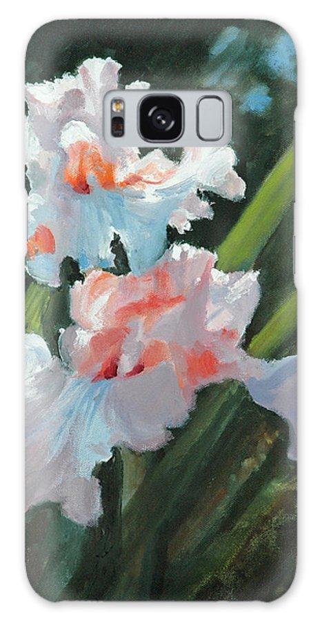 Irises Galaxy S8 Case featuring the painting Iris Pour Une Belle Femme by Glenn Secrest