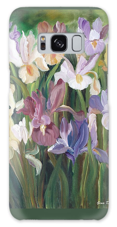 Irises Galaxy S8 Case featuring the painting Irises by Gina De Gorna
