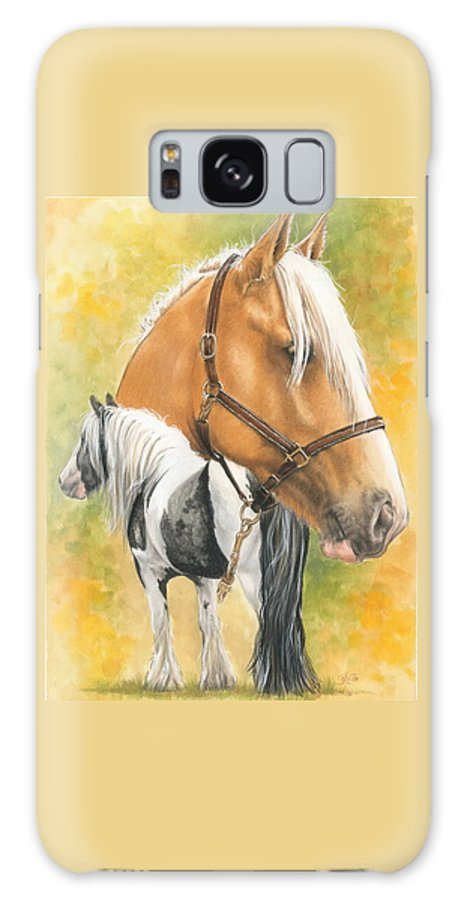 Draft Horse Galaxy S8 Case featuring the mixed media Irish Cob by Barbara Keith