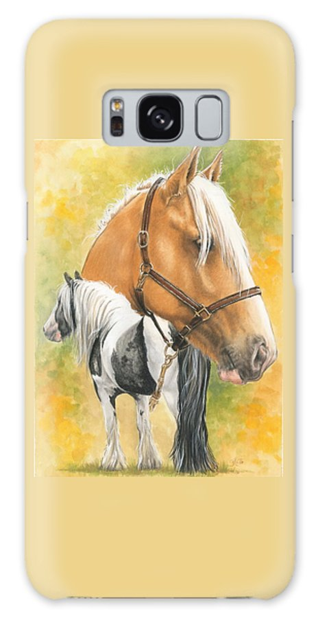 Draft Horse Galaxy S8 Case featuring the mixed media Irish Cob by Barbara Keith