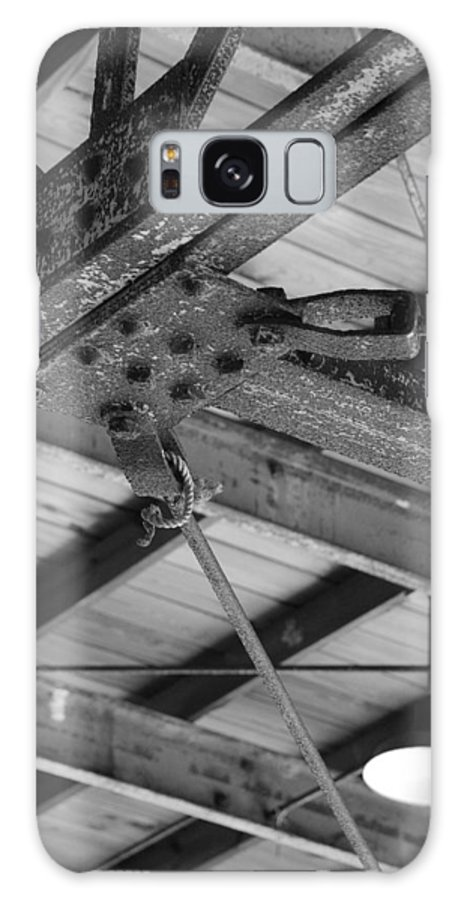 Black And White Galaxy S8 Case featuring the photograph Iron Roof by Rob Hans