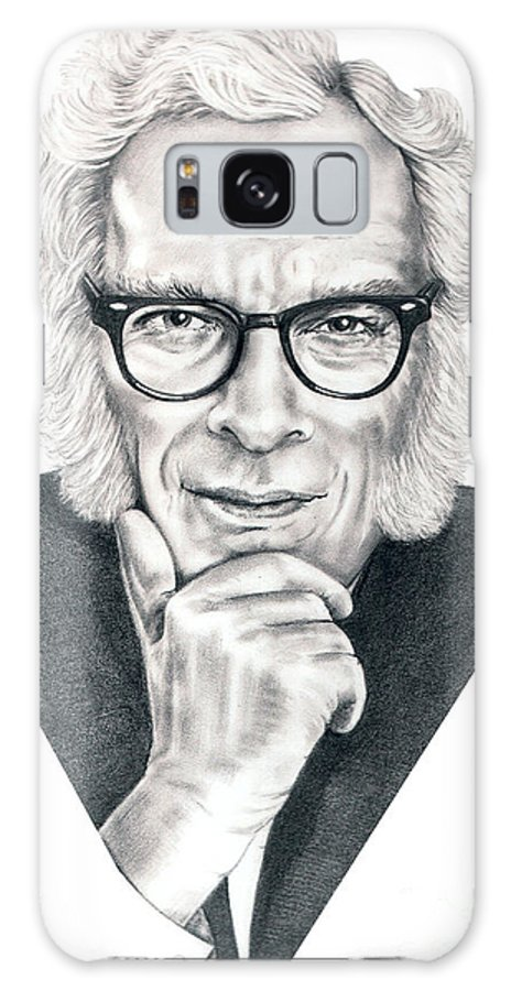 Portrait Galaxy Case featuring the drawing Isaac Asimov by Murphy Elliott